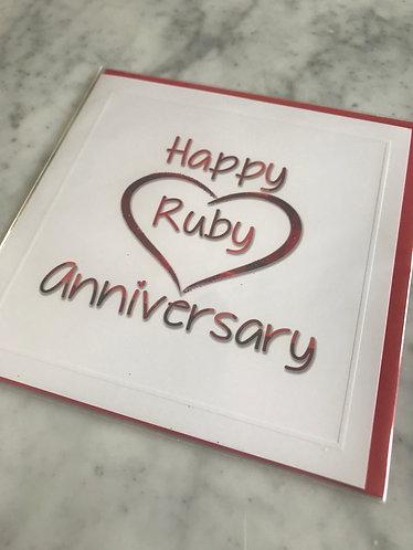 Happy Ruby Anniversary