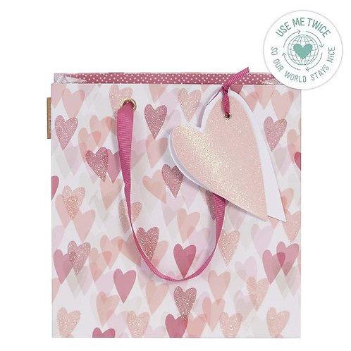 Artebene - Glitter Heart Gift Bag