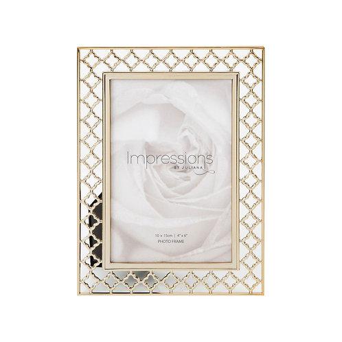 Gold Plated Lattice Frame - 4x6