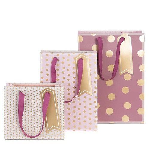 Artebene - Assorted Rose Dots Gift Bags