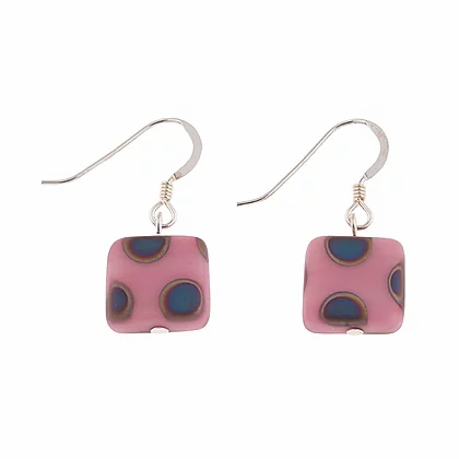 Carrie Elpseth Pink Dotty Squares Earrings