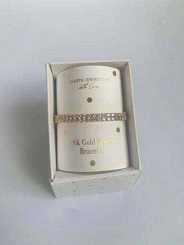 Hearts Jewellery - Tennis bracelet (gold plated)