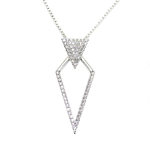 VIP - Double Triangle Drop Necklace