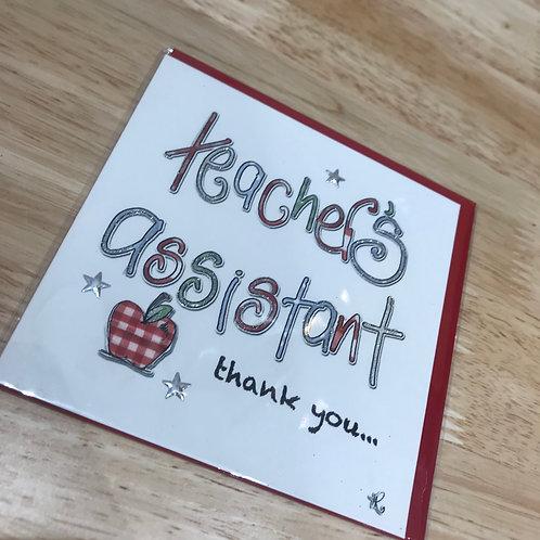 Teacher's Assistant Thank You Card