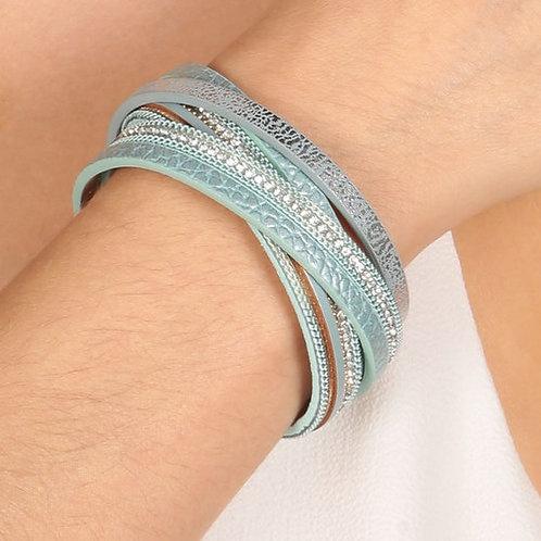 Life Charms Turquoise Wrap Bracelet