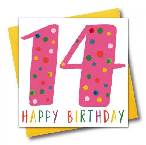 Claire Giles -  '14 Happy Birthday' Pom Pom