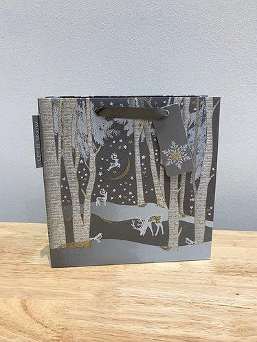 Five Dollar Shake Xmas - Glitter Reindeer Scene Gift Bag (Medium)