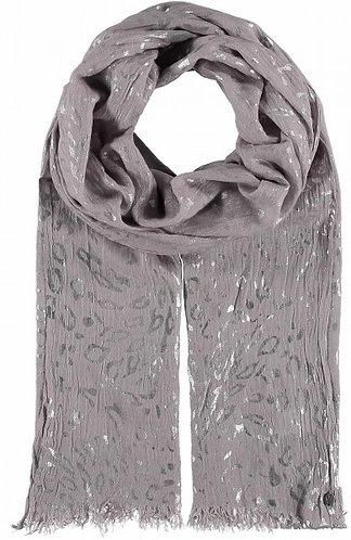 Fraas Silver Animal Print Scarf
