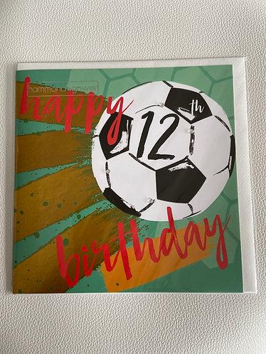 Hammond Gower - 12th Birthday Football