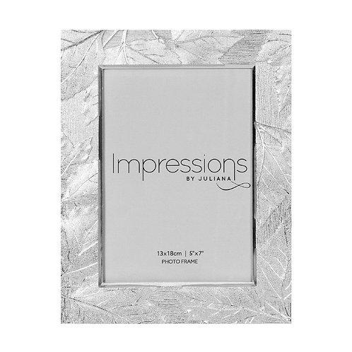 Silver Plated Leaf Design Frame - 5x7
