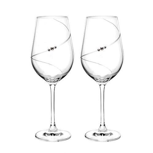 Portmeirion Auris Crystal Wine Glass Set of 2