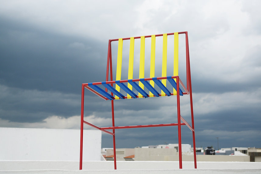 silla coy chair coyoacan bauhaus color metal sky grey clouds