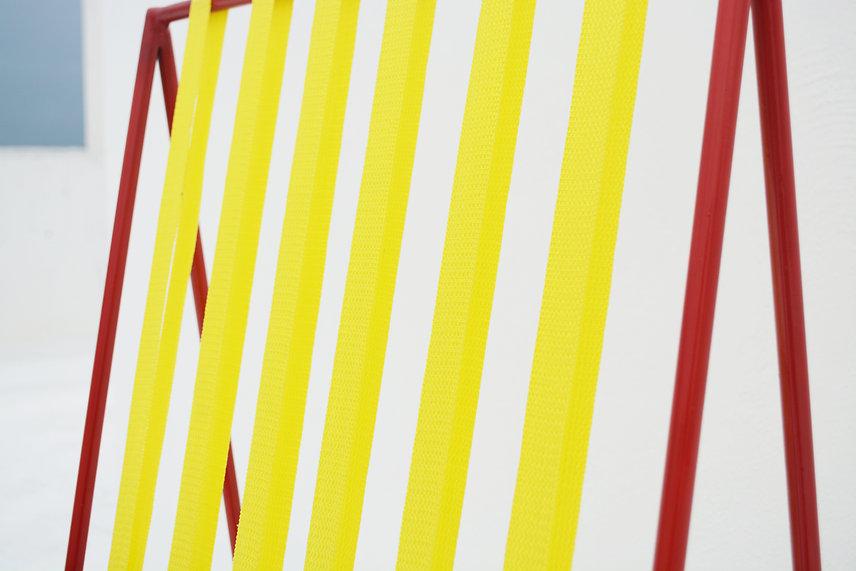 silla coy chair coyoacan bauhaus color metal yellow strips