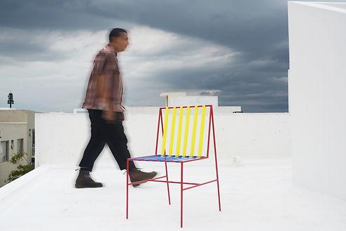 silla coy chair coyoacan bauhaus color metal person walking