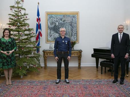 Bernd Ogrodnik sæmdur fálkaorðu