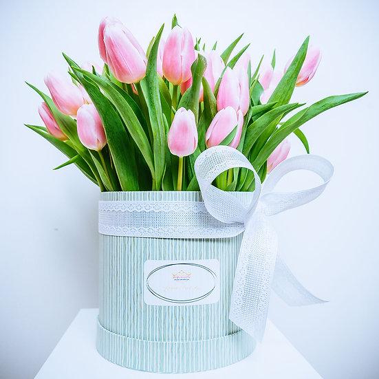 Valentine's Day Pink Tulip Gift Box