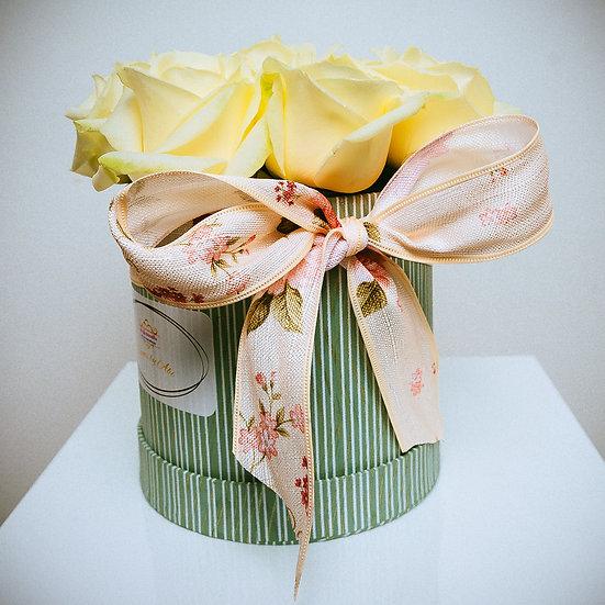 Ivory Valentine Rose Gift Box