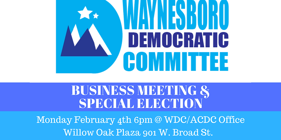 WDC Business Meeting & Special Election