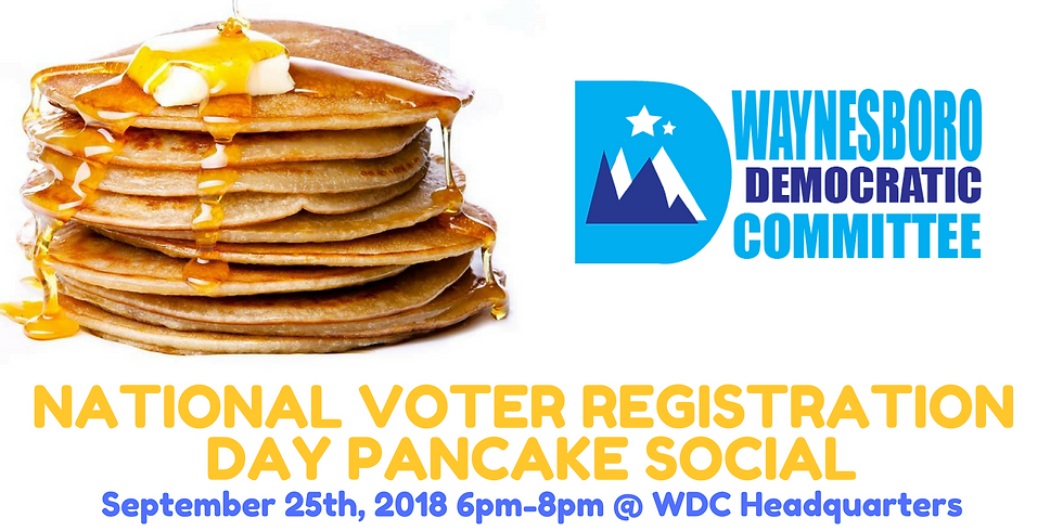 National Voter Registration Day Pancake Social