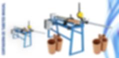 cortadora de tubetes, cortadora de tubos de papelão, cortadora de canos
