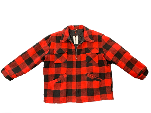Red Heavyweight Flannel Jacket