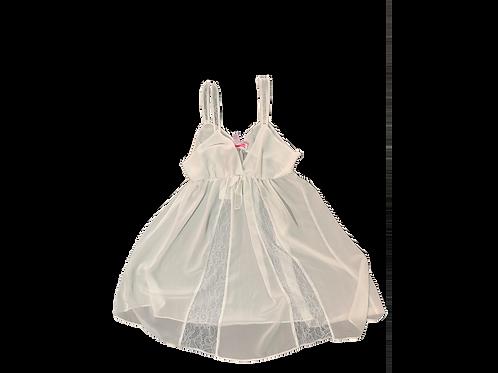 Oscar De La Renta White See Through Dress