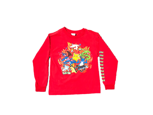 Red Pokemon Long Sleeve