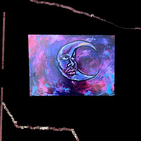 """8.5""""x11"""" 730t Moon Print"""