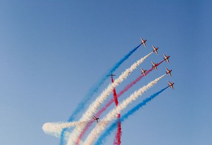 The Red Arrows Display