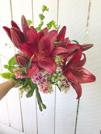 Wrapped Lily Arrangment