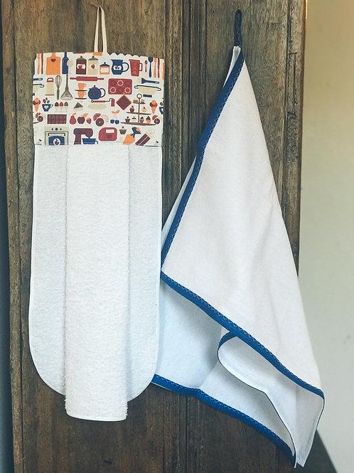 Conjunto toalha de mão e pano de prato