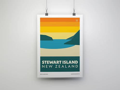 Bold Landscapes - Stewart Island (Fine Art Print)