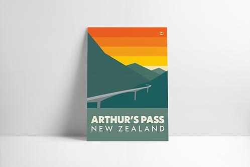 Bold Landscapes - Arthur's Pass (Poster)
