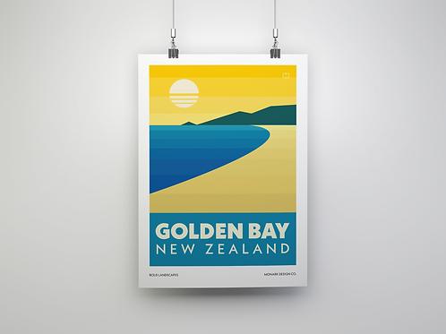 Bold Landscapes - Golden Bay (Fine Art Print)
