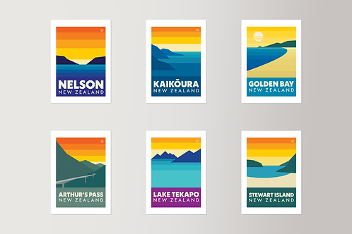 Bold Landscapes - Full set of 6 (Postcards)