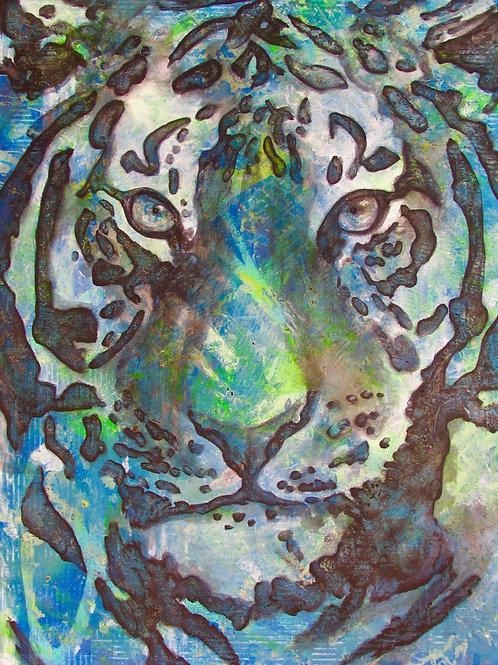 "Original Artwork - ""TigerLily"" - Gouache over Oil on canvas"