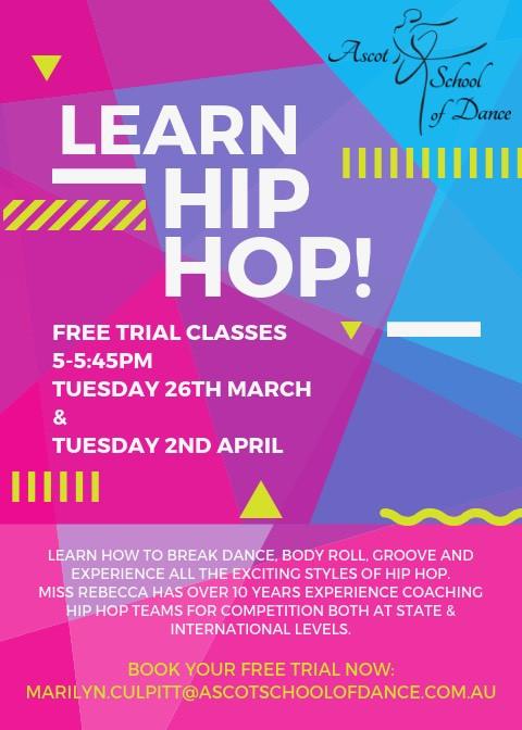 HIP HOP coming to Ascot School of Dance!