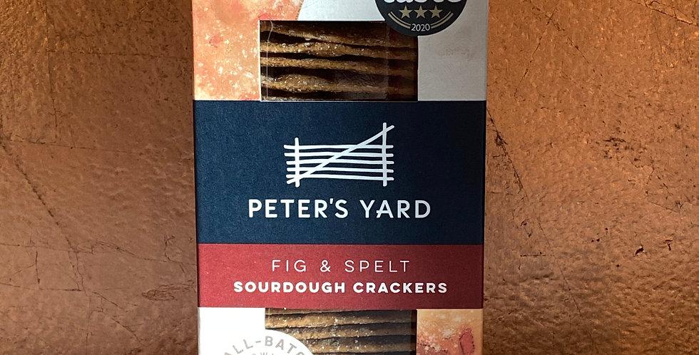 PETERS YARD FIG & SPELT SOURDOUGH CRACKERS