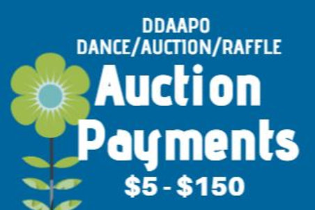 DDAAPO Auction Payments $5 - $150