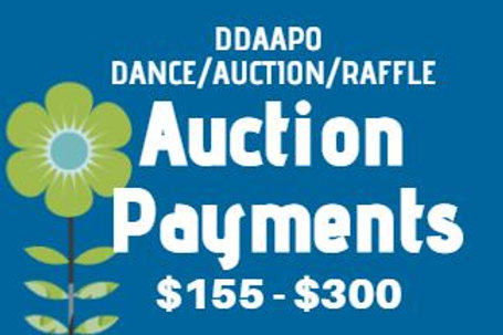 DDAAPO Auction Payments $155 - $300