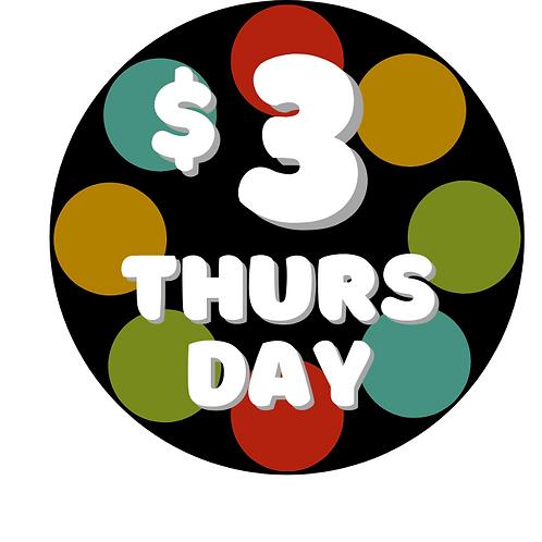 GAA - $3 THURSDAY