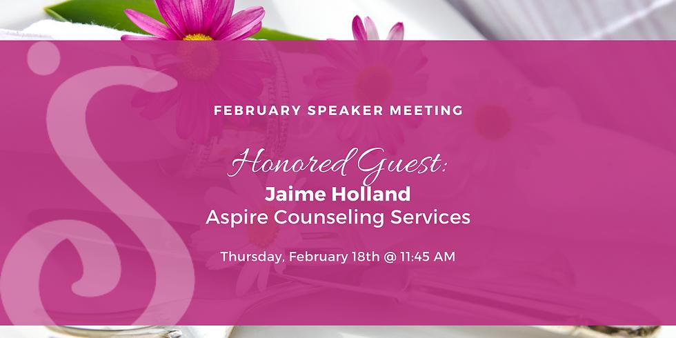February Speaker Program