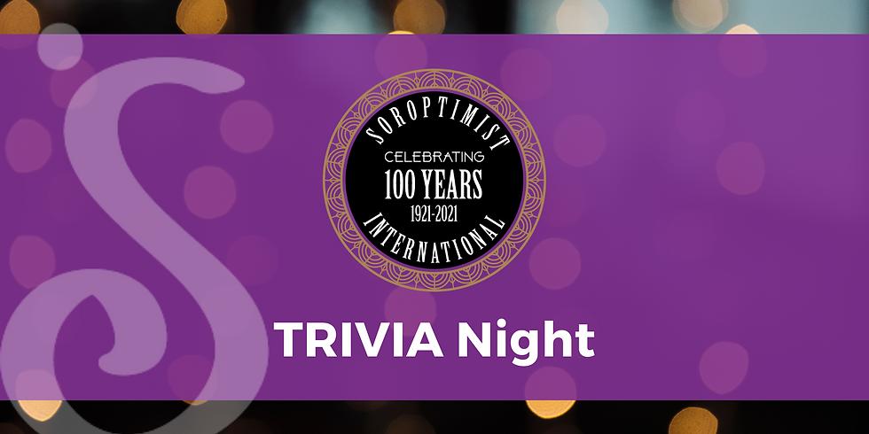 Soroptimist's 100th Anniversary Trivia Night in-person!