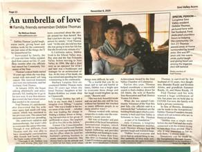 """Umbrella of Love"" In honor of Debbie Thomas"