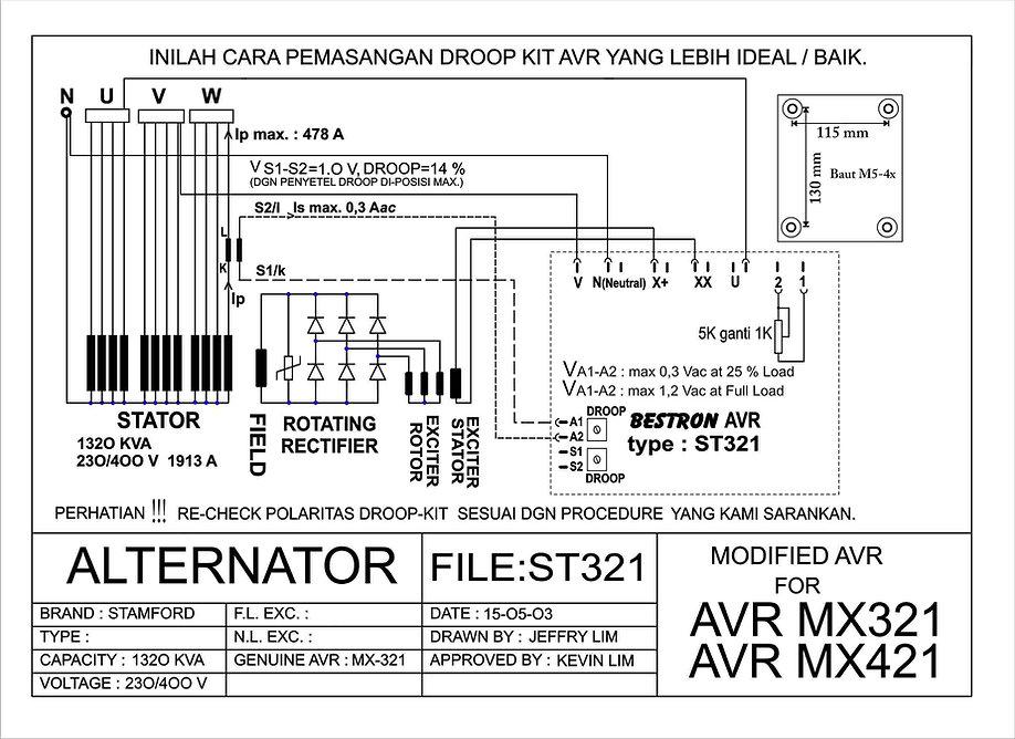 Pedoman Pasang Avr  U0026 Wiring Diagram