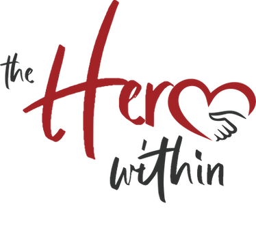 the hero within a human trafficking awareness event logo