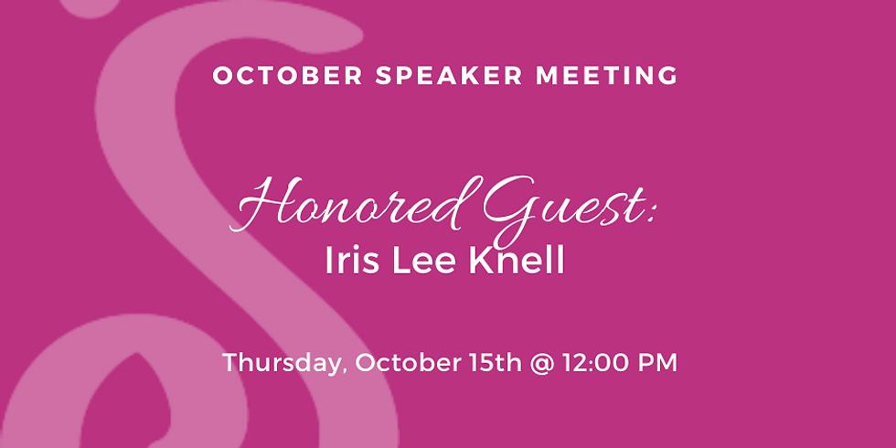 October Speaker Meeting