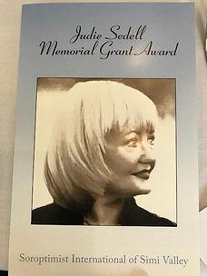 judie sedell memorial grant award.jpg