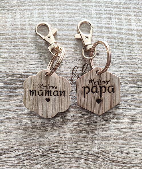 Porte clé maman ou papa