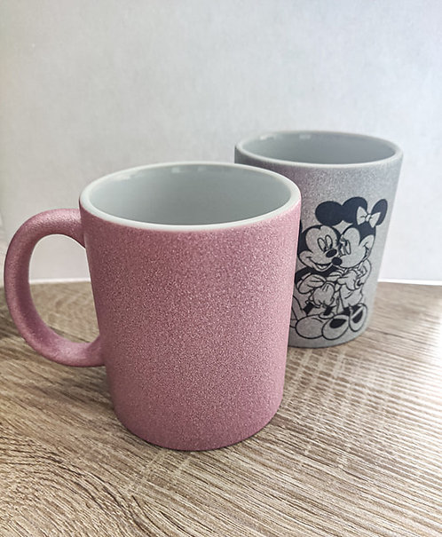 Mugs paillettes rose